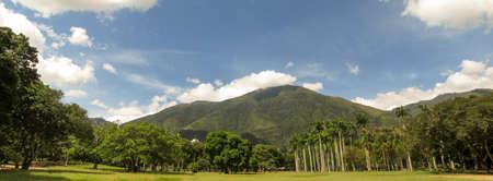 Beautiful view of Avila Mountain from the East Park Warairarepano Caracas Venezuela Stock Photo