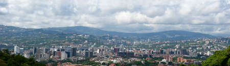 Caracas Miranda State/ Venezuela 08/18/2018 View of city line from the Avila National Park editorial Stock Photo