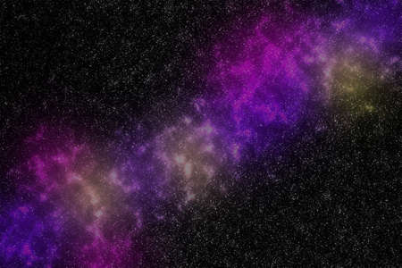 Spectacular space nebula background in which the stars are shown, illustration.