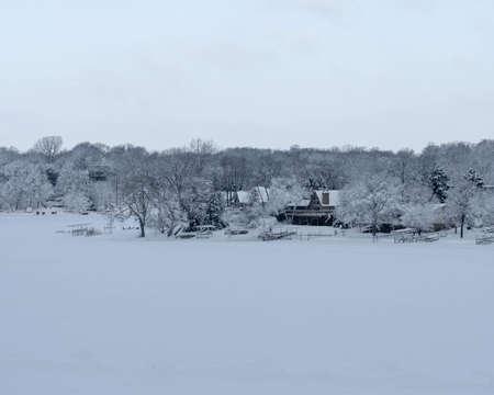Snowy prior lake, mn