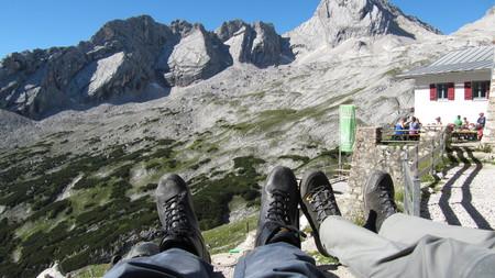 Fernblick Knorrhütte 2052 m - ascent Zugspitze via Reintal