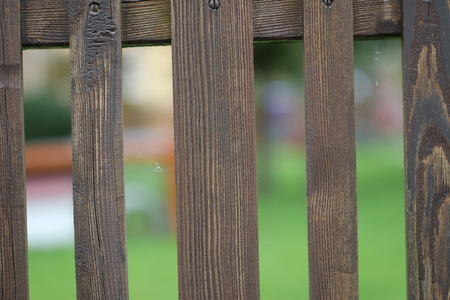 Garden fence  wooden fence