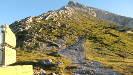 Ascent to Watzmann  Watzmanngrat 스톡 콘텐츠