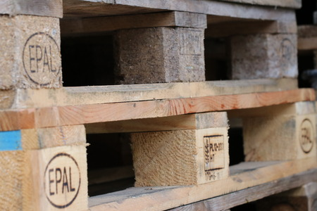 Euro pallet / wooden pallet Banco de Imagens - 97821875