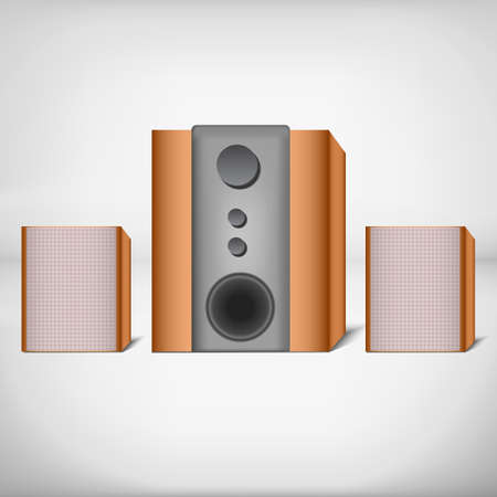 listeners: Two speakers with subwoofer. For computer or home theatre