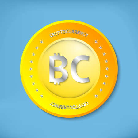 shady: Golden bitcoin icon with metallic text