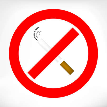 crossed cigarette: No smoking sign, red ring, sigarette cigarette crossed inside