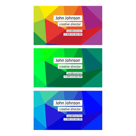 business backgound: Modern business card  templates with colorful backgound Illustration