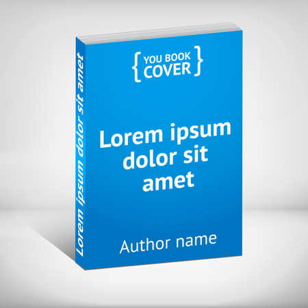 blue book: Blank blue book cover template over white background
