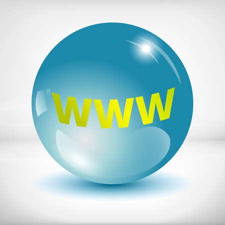 www icon: green www icon in a aqua round