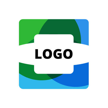 looped: Abstract Ribbon Square logo vector design template. Infinite looped shape. Infinity Loop creative trendy concept icon. Illustration