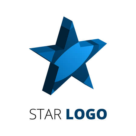 five star: five star logo template. Business abstract vector