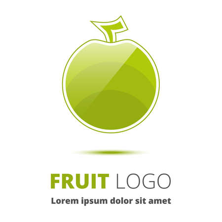 spearmint: Apple. Abstract image an apple Illustration