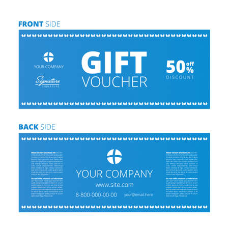 Design of Voucher and Gift certificate, Coupon template design, discount