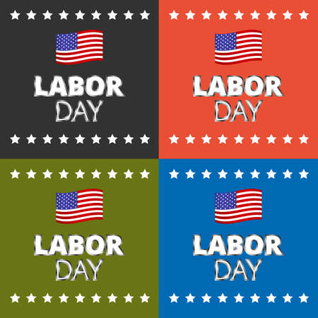 national freedom day: Labor day card design, vector illustration template Illustration