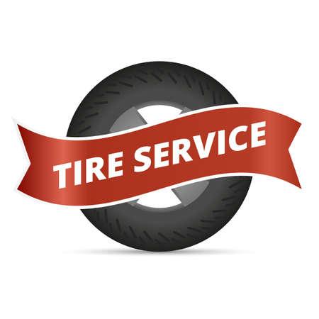 tire change: Tire service professional wheels installation service infographic elements set vector illustration
