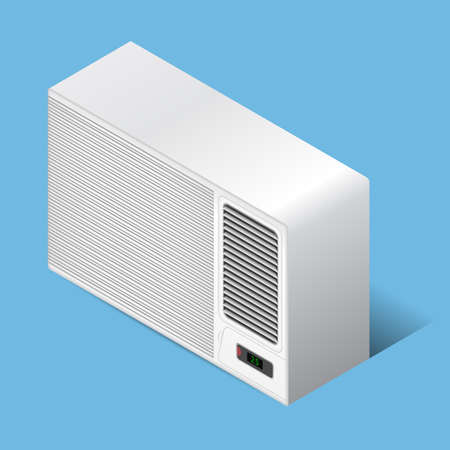 White airconditioner for medium room, isometric
