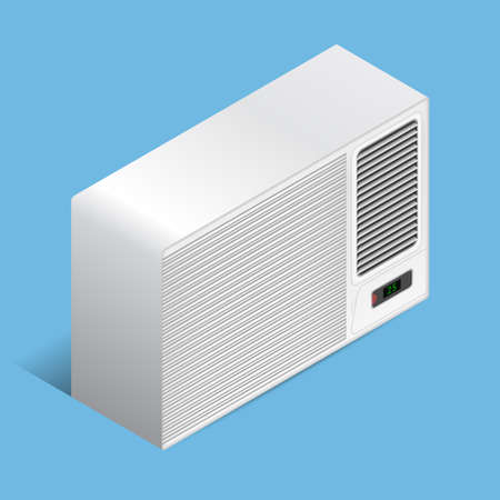 White airconditioner for medium room, isometric Stok Fotoğraf - 46701436