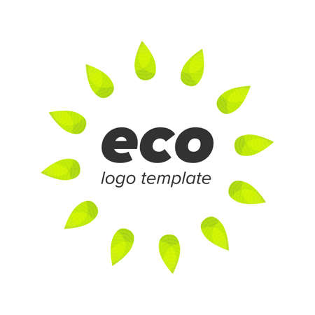 waste basket: eco recycle bin sign with leaf texture Illustration