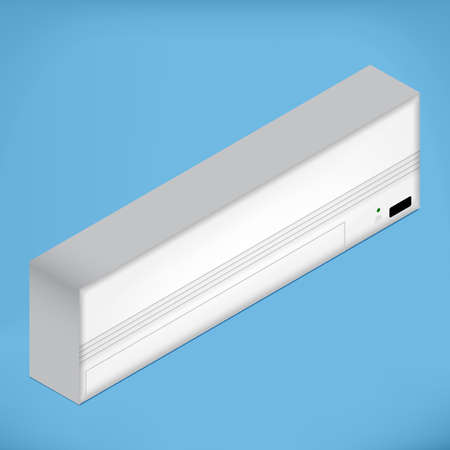 air condition: White airconditioner for medium room, isometric vector illustration Illustration