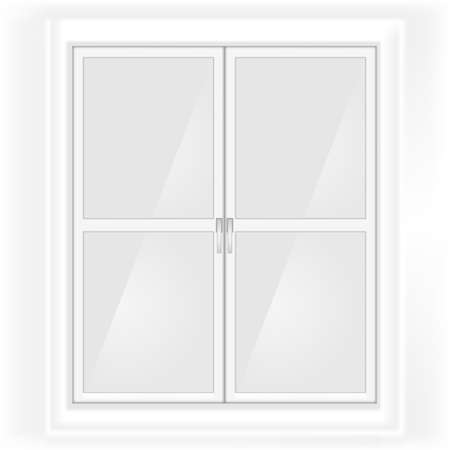 key of paradise: Grayscale glass doors sketch with handles inside