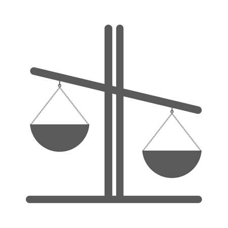 lawyer court: Libra vector icon, illustration of justice or comparison