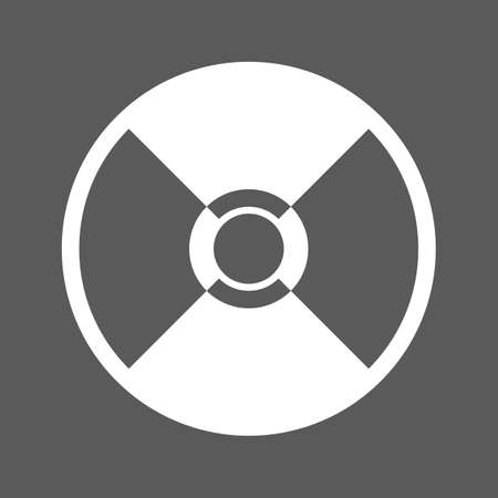 compact disk: white compact disk icon on a black background