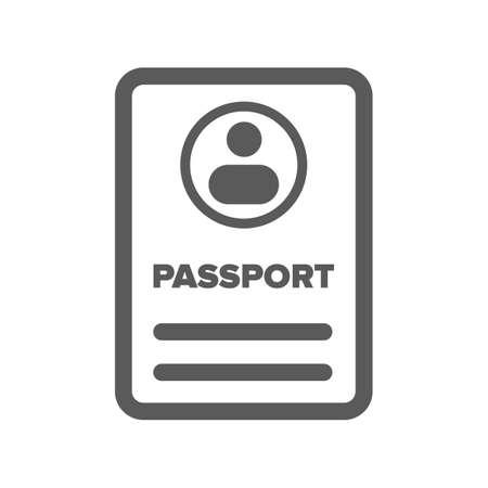 black ID passport icon on a white background Ilustracja
