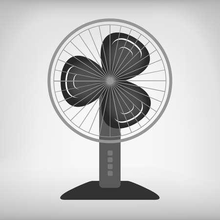 ventilator: Blue wave colored electric fan vector image. Cooling system