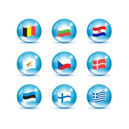 eu: European Union country flags, member states EU