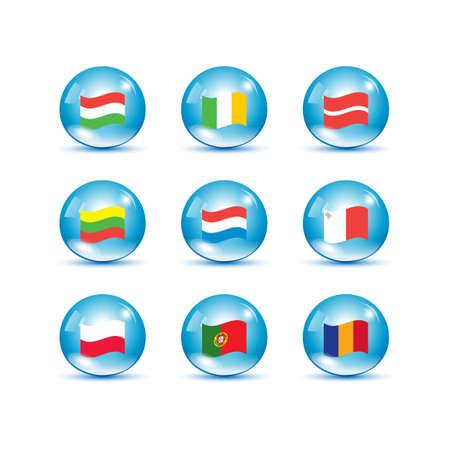 european union: European Union country flags, member states EU