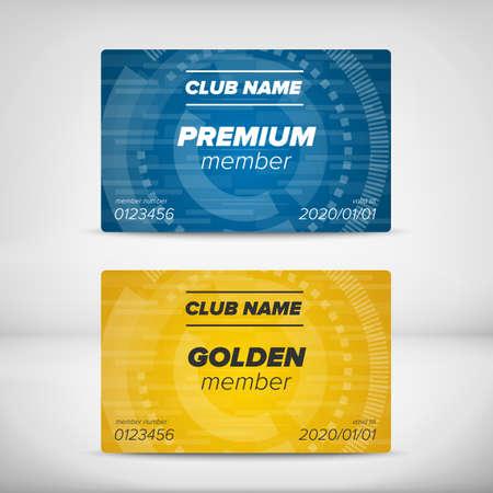premium member: Multipurpose Premium and Golden member card template
