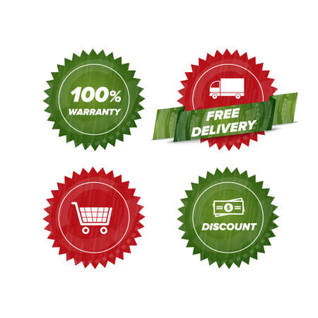 costumer: Business E-Commerce and Online Shopping icons mini set Illustration