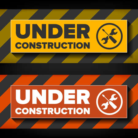 schemes: Under construction sign design, two color schemes Illustration