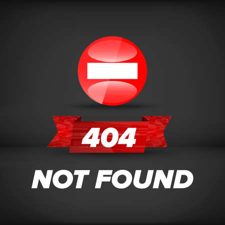 web template: Not found sign template for web design