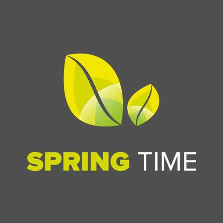 spring time: Spring time typographic design on a black background Illustration