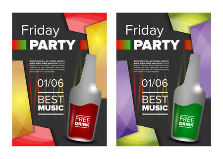 adore: Weekend party. Friday party banner or invitation
