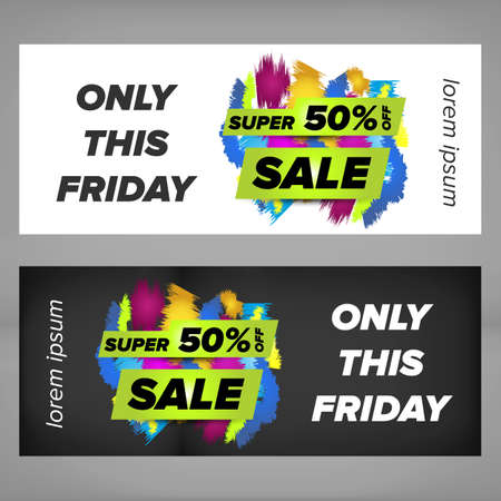 advertisment: Super sale banner design with colored sale tag