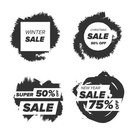 prestige: black and white Super sale badge on a transparent background