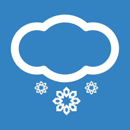 forecast: Weather forecast cloud icon with snow flakes