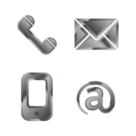 contact page: Communication buttons set, icons for contact page