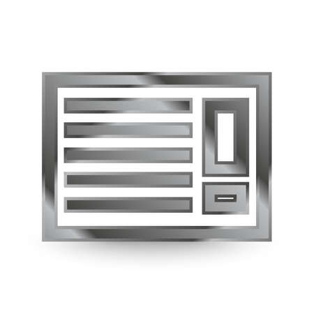 shiny metal air con icon with shadow Illustration