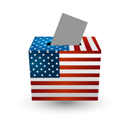 voter: Vote for election with american usa flag concept