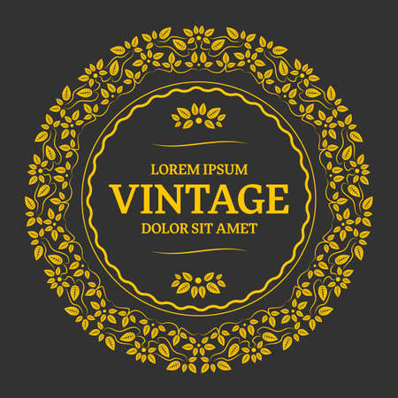 refine: Elegant golden floral monogram design. Calligraphic elegant ornament