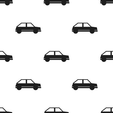 car pattern: Seamless car pattern on a white background Illustration