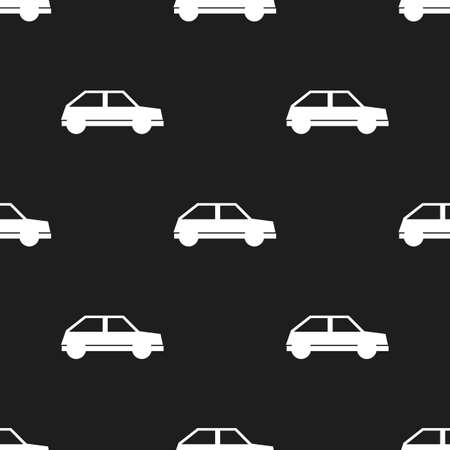 car pattern: Seamless car pattern on a black background