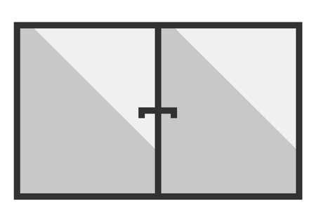 plastic window: Gray Plastic window with reflection. Vector illustration Illustration