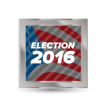 elect: United States Election Vote Badge with shabow on white background