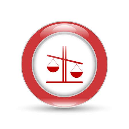 judgments: Libra vector icon, illustration of justice or comparison