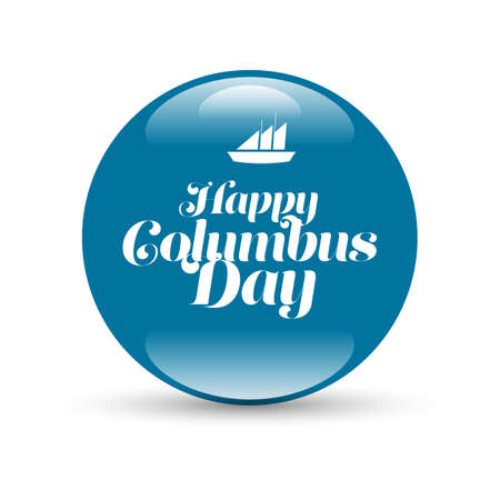 detect: Stylish text Columbus Day vector illustrations design